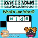 Digital Learning Long I_E Vowel Write