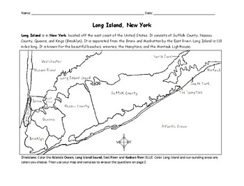 Long Island - Printable Handout with Map