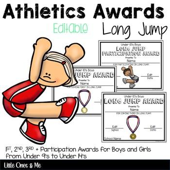 Long Jump Field Awards Athletics Editable