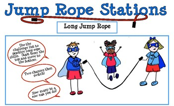 Long Jump Rope Station Cards Perfect For Jump Rope For