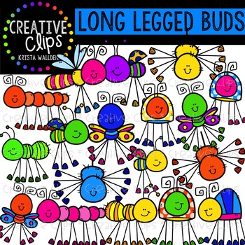 Long Legged Bugs Clipart {Creative Clips Clipart}