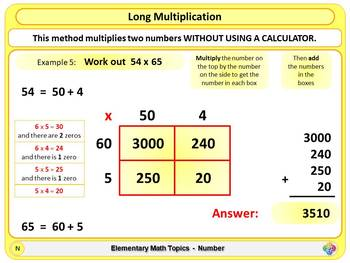 Long Multiplication (Grid Method) for Elementary School Math