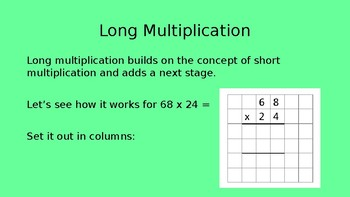 Long Multiplication Powerpoint and Activities