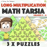Long Multiplication Tarsia Puzzle Activity