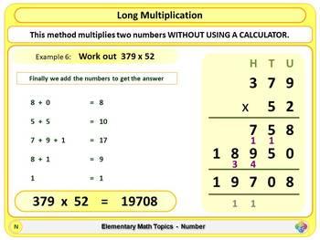 Long Multiplication (Traditional Method) for Elementary School Math