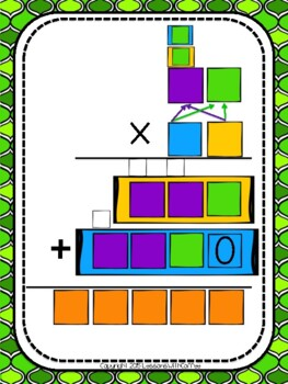 Long Multiplication (Traditional Algorithm) Graphic Organizer and Task Cards