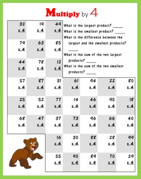 Long Multiplication (with Bears)