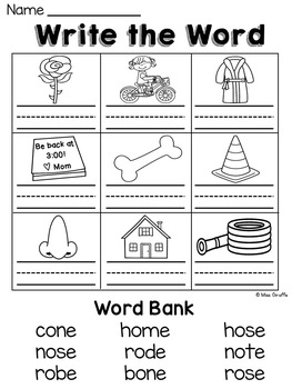 Long O Worksheets and Activities {NO PREP!}