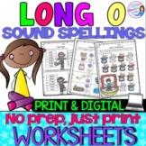 Long O Vowel Teams Practice Worksheets