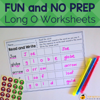 Long O Activities, Games & Worksheets