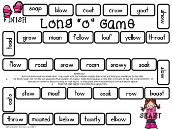 Long O Activities and Games  (ow and oa)