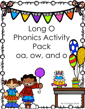 Long O Activity Pack (vowel teams oa, ow, o)