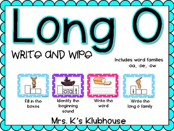 Long O Build It: Differentiated Center Activities