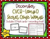 Long O CVCE Secret Code Words - December/Holiday Word Work