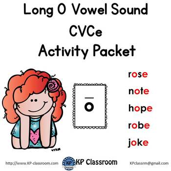 Long O CVCe Vowel Sound Activity Packet and Worksheets