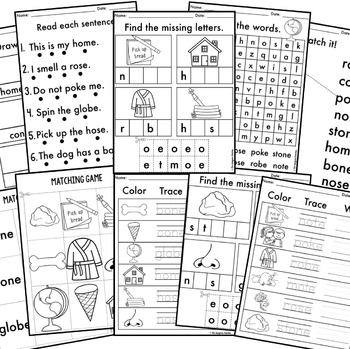 Phonics By Design Long O CVCe Word Mini-Unit