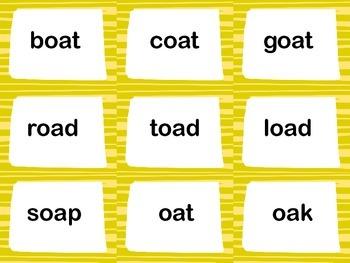 Long O CVVC Word Board Game
