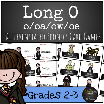 Harry Potter Themed Classroom - Long 'O' Phonics Card Game