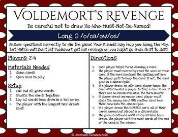 Harry Potter Themed Classroom - Long O /o/oa/ow/oe/ Phonics Card Game