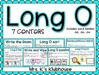 Long O Centers Pack with Differentiated Activities