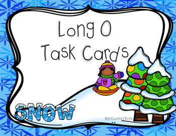 Long O Differentiated Task Cards (oa, ow, and o)