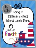 Long O Differentiated Word Work Bins