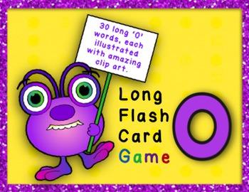 Long O Flashcard Game - CVCe Words