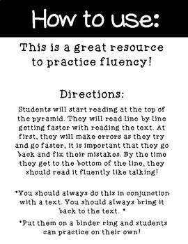 Long O Fluency Cards: OA and O_E