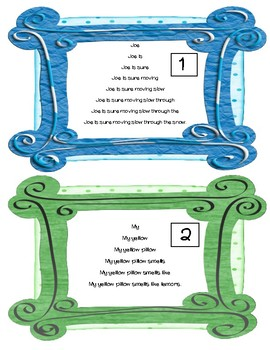 Long O Fluency Cards: OE and OW