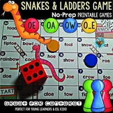 Long O Game: Snakes and Ladders (o_e, oa, oe, ow)