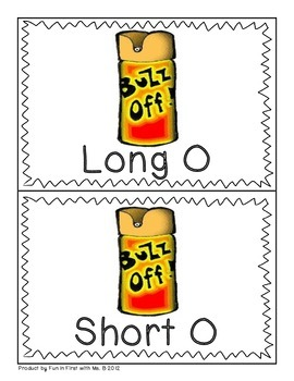 """Long O """"Oh NO! Mosquito"""" sorting game"""
