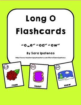 Long O Phonics Flashcards Bundle