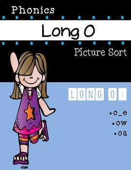 Long O Phonics Picture Sort