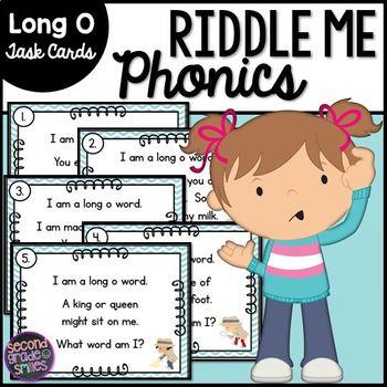 Long O Phonics Riddle Task Cards