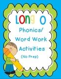 Long O Phonics/Word Work Activities {o-e, oe, oa, ow}