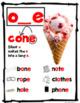 Long O Posters Set (oe, ow, oe, and o_e)