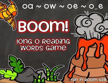 Long O Reading Words Game {oa, ow, oe, o_e}