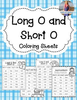 Long O & Short O Coloring! 4 pages