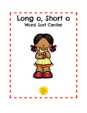 Long O, Short O Word Sort Center