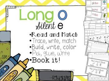 Long O Silent E- 5 interactive activities