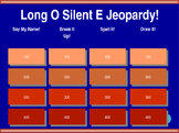 Long O - Silent E Jeopardy!