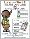 Long O Silent E Picture & Word Cards and Write & Wipe Cards