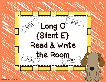 Long O (Silent E) Read and Write the Room / Word Sort