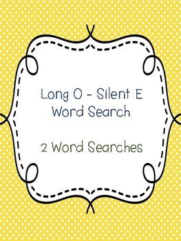 Long O - Silent E Word Searches