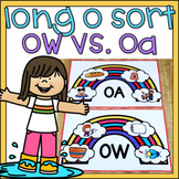 Long O Sort Spelled with OA & OW 1st Grade Literacy Center