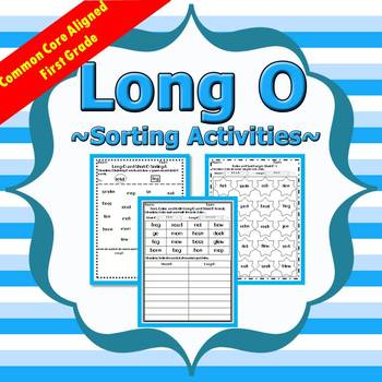 Long O Sorting Activities