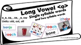 Long O Sound Blending Cards