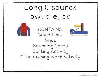 Long O Sound activities
