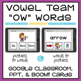 Long O Spelled OW Vowel Team Digital Activity Google, PowerPoint, Boom Cards