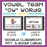 Long O Spelled OW Vowel Team Digital Activity Google, Powe